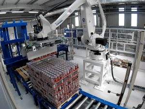 beer palletizing system