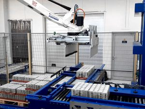 Cans palletizing sysem in europe machines