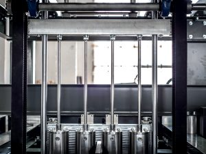 Blow molding machine interior