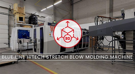 blow molding machine 3d view walk