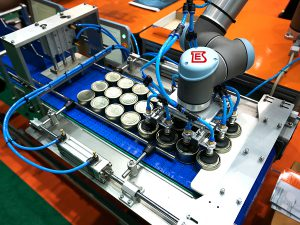 Cans paring device for tin cans palletizing system