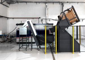 Cardboard elevator PET preform lifting system