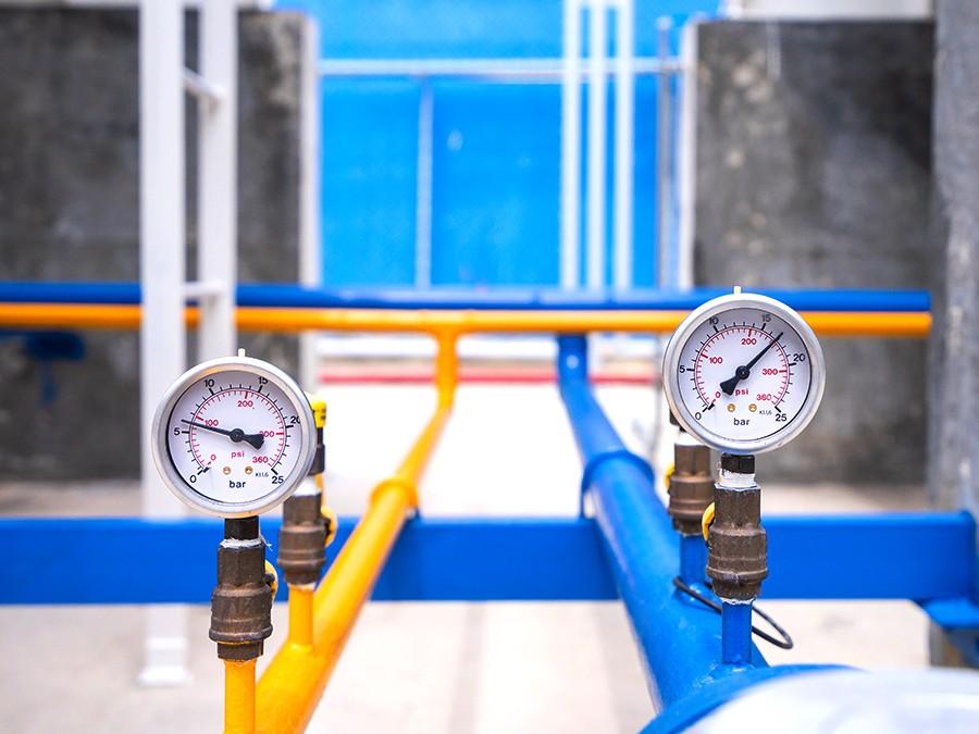 Urządzenie dobadania szczelności gazomierzy